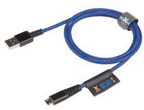 XTORM Kabel USB - microUSB XTORM Solid Blue, 1 m