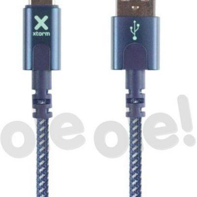 XTORM kabel USB USB-C 1m niebieski XCX2054
