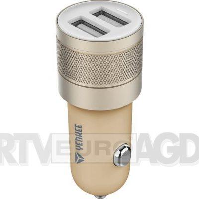 YENKEE ładowarka samochodowa 2x USB 4,8A złoty 30014756