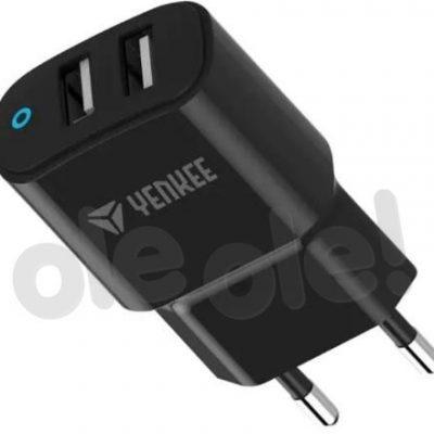 YENKEE ładowarka sieciowa 2x USB czarny 30017823
