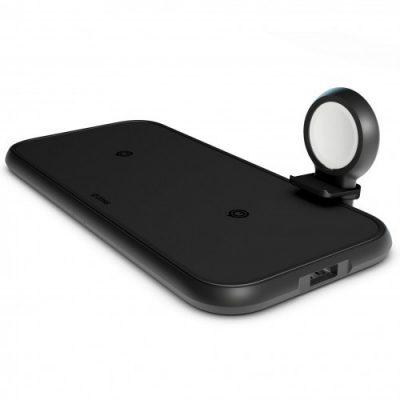 Zens Ładowarka bezprzewodowa 4w1 z kablem Apple Watch MFi + zasilacz z USB C 7438222414412