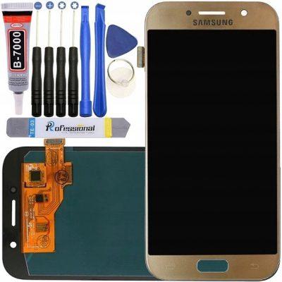 Złoty Samsung A5 2017 A520 A520F Wyświetlacz LCD