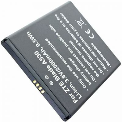ZTE AccuCell AccuCell Akumulator 2500 mAh pasujący do Blade A530 Li-ion, 3,8 V 9,5 Wh, Li3826T43P4h705949 31196