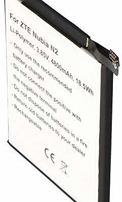 ZTE AccuCell Akumulator pasujący do Nubia N2, litowo-polimerowy, 3,85 V, 4800 mAh, 18,5 Wh, wbudowany, bez narzędzi 30984
