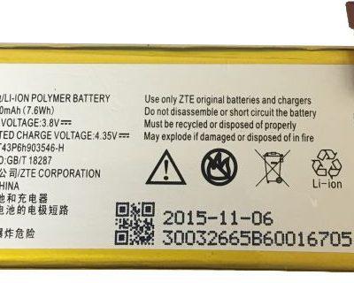 ZTE Bateria Li3820T43P6h903546-H Vital Z812 Maven