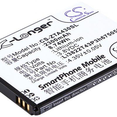 ZTE Blade Q Lux Li3822T43P3h675053 2300mAh 8.74Wh Li-Ion 3.8V Cameron Sino) CS-ZTA430SL