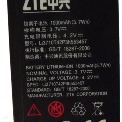 ZTE Nowa Oryg Bateria T100 108 Racer X850 Telstar