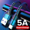 Huawei 5A kabel USB typu C 0.25m 1m 2m szybkie ładowanie typ-c Kable dla P30 P20 Mate 20 Pro