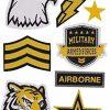 PURO Patch Mania Army naklejki Tattoo-Kit PUST002