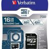 Verbatim MicroSDXC 64GB + adapter (47042)